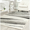 Safavieh Retro Light Grey and Ivory Rectangular Indoor Machine-Made Area Rug (Common: 8 x 10; Actual: 96-in W x 120-in L x 0.58-ft Dia)