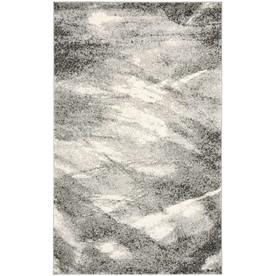 Safavieh Retro Grey and Ivory Rectangular Indoor Machine-Made Area Rug (Common: 8 x 10; Actual: 96-in W x 120-in L x 0.58-ft Dia)