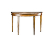 Safavieh American Home Light Brown Birch Half-Round Console and Sofa Table