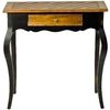 Safavieh American Home Light Brown and Black Birch Half-round End Table