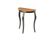 Safavieh American Home Tiger Dark Brown Birch Half-Round Console and Sofa Table