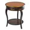 Safavieh American Home Tiger Dark Brown Birch Round End Table