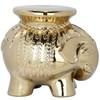 Safavieh 16.8-in Gold Ceramic Elephant Garden Stool