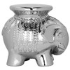 Safavieh 16.8-in Silver Ceramic Elephant Garden Stool
