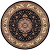 Safavieh Lyndhurst Black and Ivory Round Indoor Machine-Made Area Rug (Common: 7 x 7; Actual: 84-in W x 84-in L x 0.58-ft Dia)