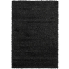 Safavieh California Shag 6-ft 7-in x 9-ft 6-in Rectangular Black Solid Area Rug