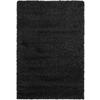 Safavieh Shag Black Rectangular Indoor Machine-Made Area Rug (Common: 9 x 12; Actual: 102-in W x 144-in L x 1.08-ft Dia)