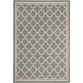 Safavieh Courtyard 4-ft x 5-ft 7-in Rectangular Gray Transitional Indoor/Outdoor Area Rug