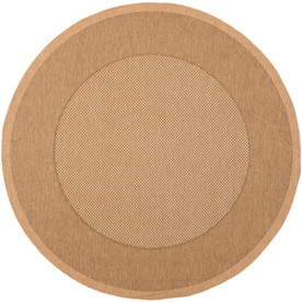 Shop Safavieh Courtyard 5 Ft 3 In X 5 Ft 3 In Round Tan Border Indoor Outdoor