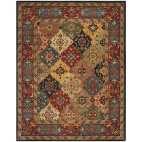 Safavieh Heritage Red and Multicolor Rectangular Indoor Tufted Area Rug (Common: 6 x 9; Actual: 72-in W x 108-in L x 0.67-ft Dia)