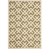 Safavieh Courtyard 79-in x 114-in Rectangular Green Transitional Indoor/Outdoor Area Rug