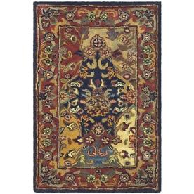 Safavieh Heritage Multicolor and Burgundy Rectangular Indoor Tufted Area Rug (Common: 4 x 6; Actual: 48-in W x 72-in L x 0.5-ft Dia)