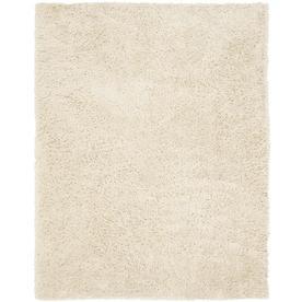Safavieh Shag White Rectangular Indoor Tufted Area Rug (Common: 8 x 10; Actual: 90-in W x 114-in L x 0.92-ft Dia)