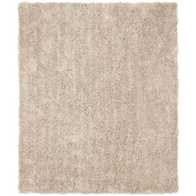 Safavieh Shag Taupe Rectangular Indoor Tufted Area Rug (Common: 8 x 10; Actual: 90-in W x 114-in L x 0.92-ft Dia)