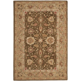 Safavieh Anatolia Brown and Green Rectangular Indoor Tufted Area Rug (Common: 9 x 12; Actual: 108-in W x 144-in L x 0.83-ft Dia)