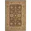 Safavieh Anatolia Brown and Green Rectangular Indoor Tufted Area Rug (Common: 8 x 10; Actual: 96-in W x 120-in L x 0.67-ft Dia)