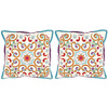 Safavieh 2-Piece 18-in W x 18-in L Goldenrod Square Indoor Decorative Complete Pillows