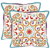 Safavieh 2-Piece 18-in W x 18-in L Goldenrod Square Accent Pillow