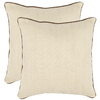 Safavieh 2-Piece 18-in W x 18-in L Wheat Square Accent Pillow