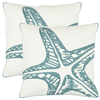 Safavieh 2-Piece 18-in W x 18-in L Blue Square Accent Pillow