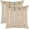 Safavieh 2-Piece 18-in W x 18-in L Almond Square Accent Pillow