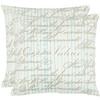 Safavieh 2-Piece 18-in W x 18-in L Periwinkle Square Accent Pillow