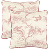 Safavieh 2-Piece 18-in W x 18-in L Raspberry Square Accent Pillow