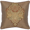 Safavieh 2-Piece 18-in W x 18-in L Tan Square Indoor Decorative Complete Pillows