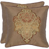 Safavieh 2-Piece 18-in W x 18-in L Tan Square Indoor Decorative Complete Pillows