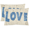 Safavieh 2-Piece 13-in W x 19-in L Denim Blue Rectangular Indoor Decorative Complete Pillows