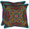 Safavieh 2-Piece 18-in W x 18-in L Chocolate Square Accent Pillow