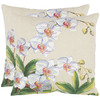 Safavieh 2-Piece 18-in W x 18-in L Eggshell Square Accent Pillow