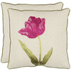 Safavieh 2-Piece 18-in W x 18-in L Fuschia Square Accent Pillow