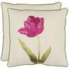 Safavieh 2-Piece 18-in W x 18-in L Fuschia Square Indoor Decorative Complete Pillows
