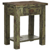 Safavieh American Home Antique Green Birch Rectangular End Table