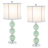 Safavieh 2-Piece Celadon Stephanie Green Globe Lamp Set