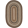 Safavieh Braided Brown and Multicolor Oval Indoor and Outdoor Braided Throw Rug (Common: 3 x 5; Actual: 36-in W x 60-in L x 0.33-ft Dia)