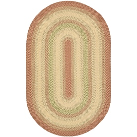 Safavieh Braided Rust and Multicolor Oval Indoor and Outdoor Braided Area Rug (Common: 8 x 10; Actual: 96-in W x 120-in L x 0.67-ft Dia)