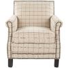 Safavieh Mercer Tan / Red Club Chair