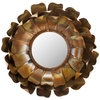 Safavieh 19.3-in x 19.3-in Copper Polished Round Framed Sunburst Wall Mirror