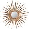 Safavieh 33.1-in x 33.1-in Copper Polished Round Framed Sunburst Wall Mirror