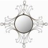 Safavieh 28.3-in x 31.5-in Antiqued Black Round Framed Mirror