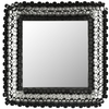Safavieh 25.2-in x 25.2-in Black Polished Square Framed Venetian Wall Mirror
