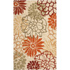 Safavieh Four Seasons Rectangular Cream Floral Indoor/Outdoor Woven Area Rug (Common: 5-ft x 8-ft; Actual: 5-ft x 8-ft)