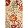 Safavieh Four Seasons 8-ft x 10-ft Rectangular Beige Floral Indoor/Outdoor Area Rug