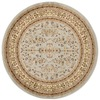 Safavieh Lyndhurst Grey and Beige Round Indoor Machine-Made Area Rug (Common: 6 x 6; Actual: 72-in W x 72-in L x 0.33-ft Dia)