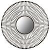 Safavieh 33.5-in x 33.5-in Gold Polished Round Framed Sunburst Wall Mirror