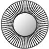 Safavieh 41-in x 41-in Gold Polished Round Framed Sunburst Wall Mirror
