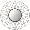 Safavieh 31-in x 31-in Metal Polished Round Framed Venetian Wall Mirror