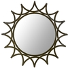 Safavieh 24-in x 1-in Black Polished Round Framed French Wall Mirror